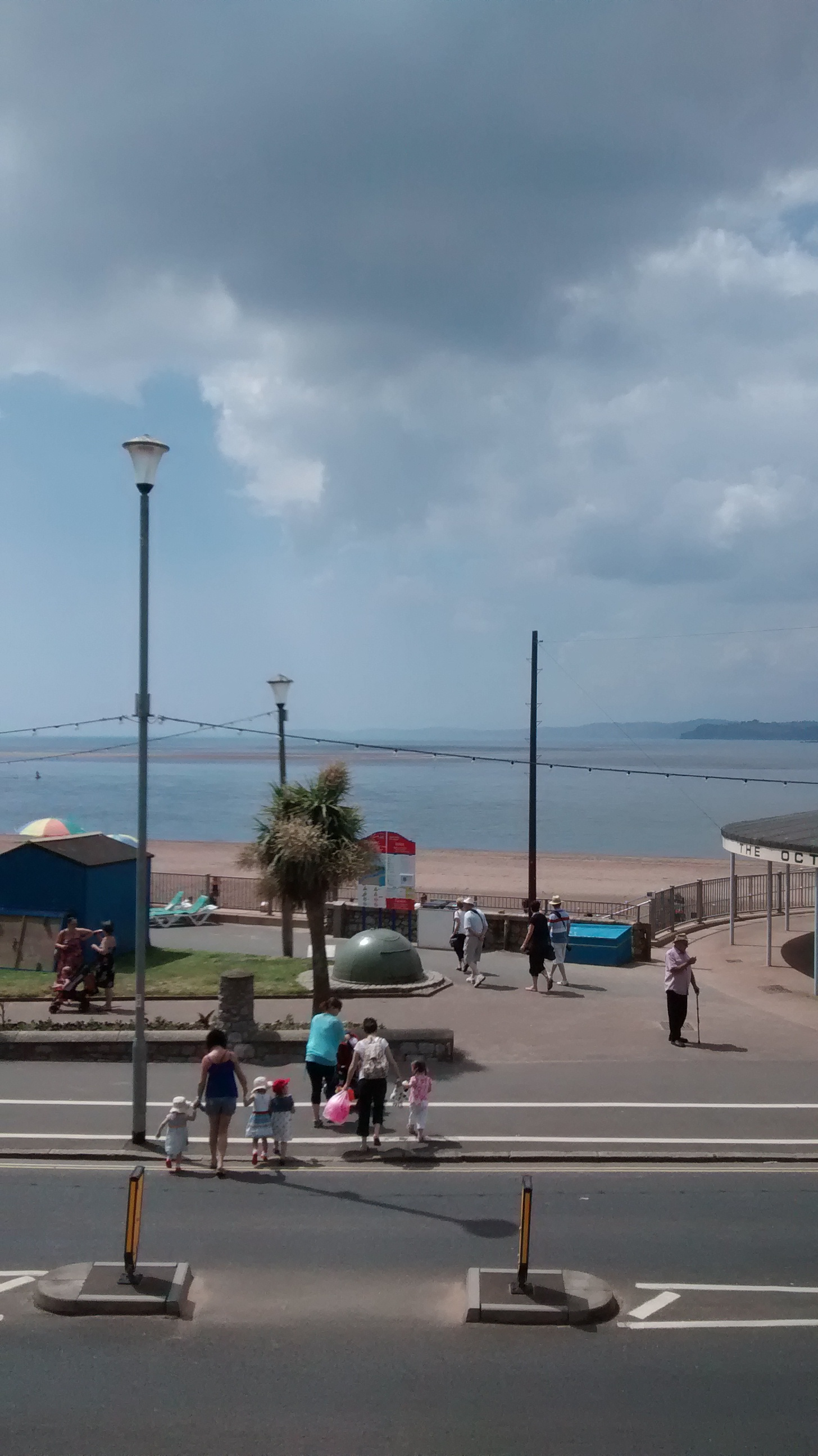 photo taken from balcony to illustrate short walk across road to beach